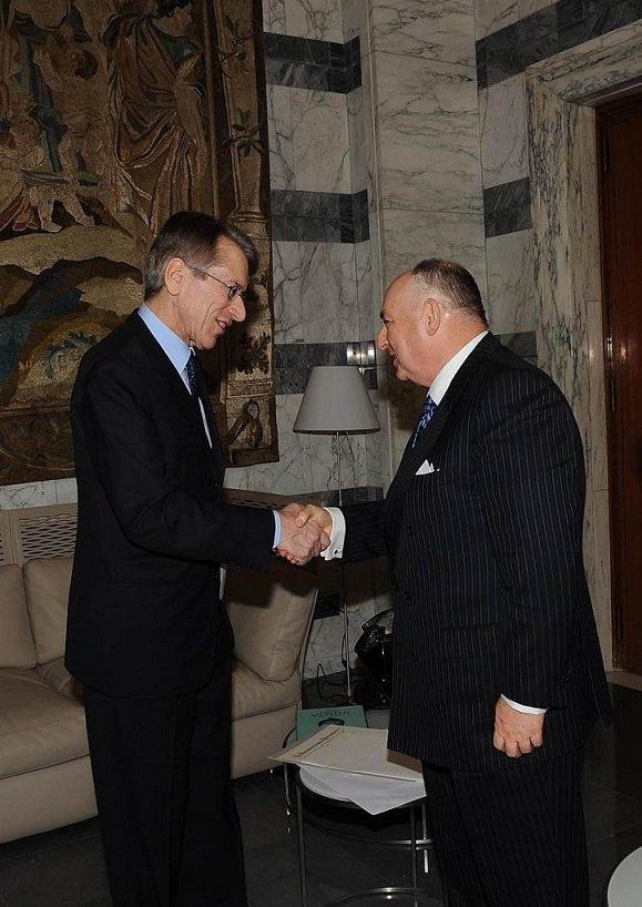 Awarding of EJC President Viatcheslav Moshe Kantor with the Order of Merit of the Italian Republic. Rome