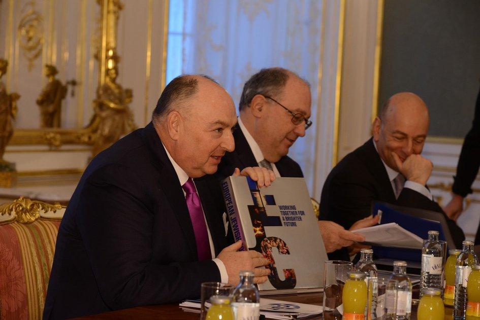EJC President Viatcheslav Kantor and the EJC Delegates Meet President of Austria Heinz Fischer. Vienna, February 27, 2014