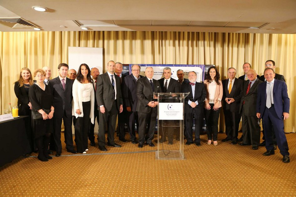 Встреча делегации ЕЕК во главе с Вячеславом Кантором с министром финансов Израиля Яиром Лапидом. Тель-Авив