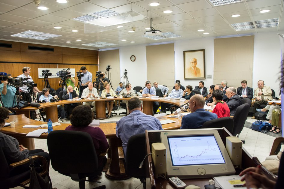 Annual press conference of the Kantor Centre for the Study of Contemporary European Jewry devoted to the state of Anti-Semitism in the world. Tel-Aviv, Israel
