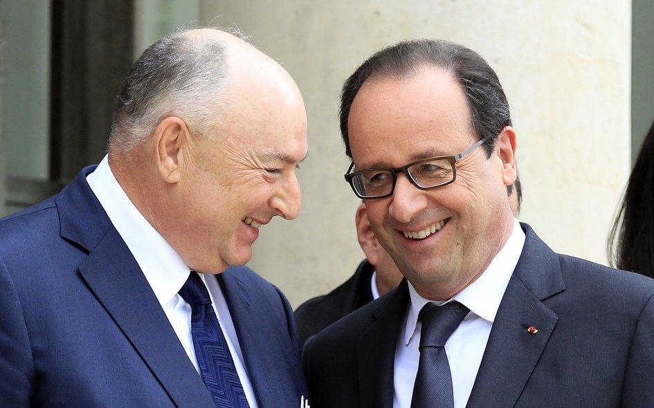 Встреча президента ЕЕК Вячеслава Кантора с президентом Франции Франсуа Олландом. Париж