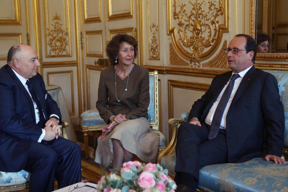 EJC President Viatcheslav Kantor Meets with the President of France Francois Hollande. Paris, July 8, 2014