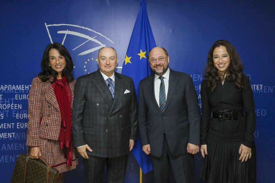 EJC President Viatcheslav Kantor Meets With The President Of The European Parliament Martin Schulz