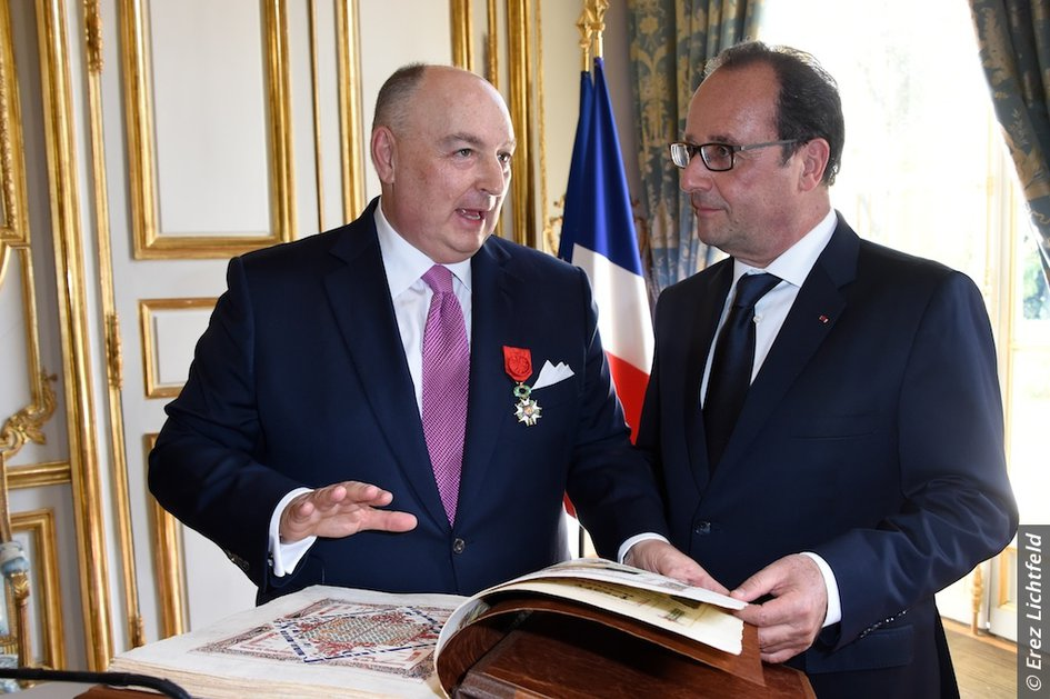 President of The European Jewish Congress, Dr. Moshe Kantor, Awarded French National Order of The Legion of Honour by President Hollande