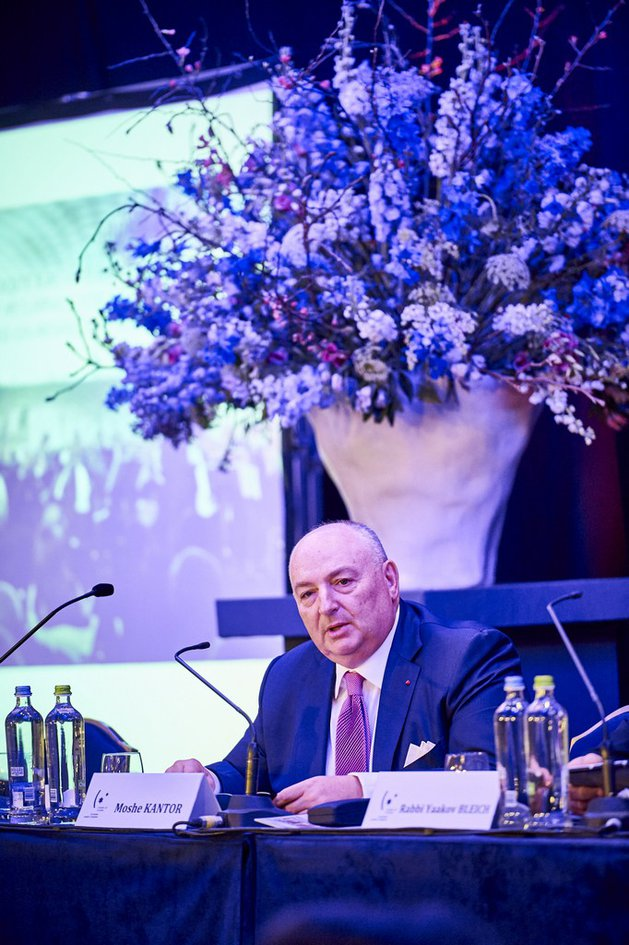 Viatcheslav Moshe Kantor Reelected President of the European Jewish Congress. Brussels, January 26, 2016