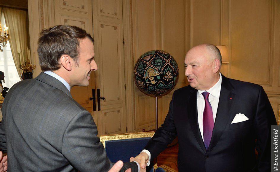 EJC Delegation Headed by EJC President Moshe Kantor Meets French President Emmanuel Macron in Paris