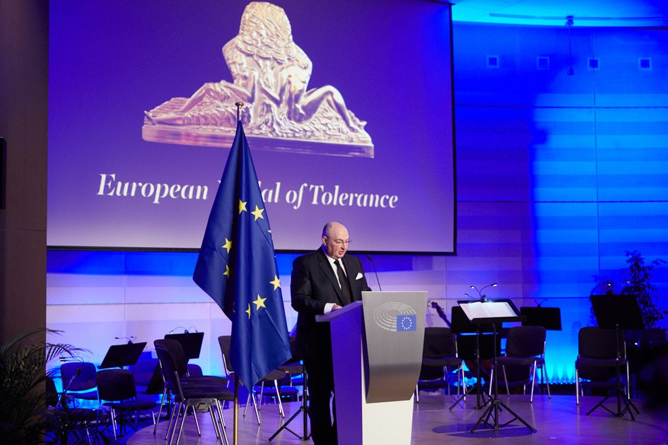 Awarding Of The Film Director Andrey Konchalovsky With The European Medal Of Tolerance