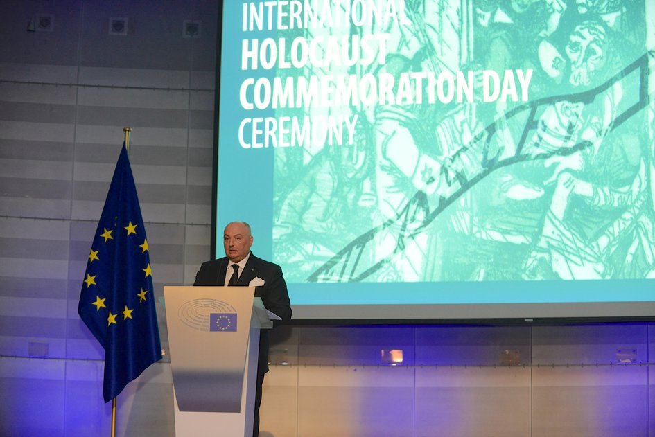 INTERNATIONAL HOLOCAUST REMEMBRANCE DAY COMMEMORATIVE EVENT AT THE EUROPEAN PARLIAMENT. BRUSSELS