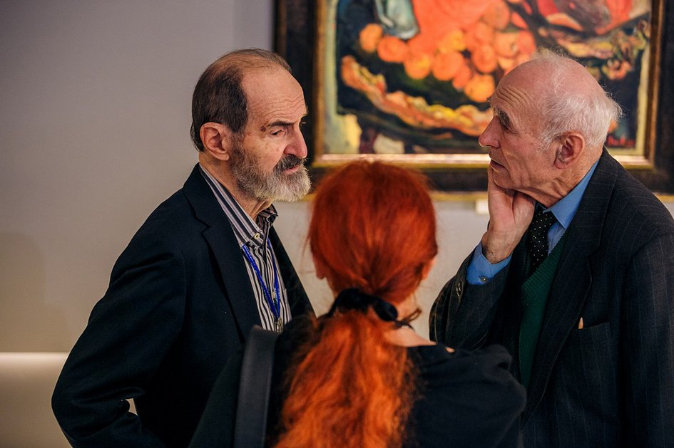 """Opening of the Exhibition of the Museum of Avant-Garde Matery (MAGMA) """"My Homeland is within My Soul"""" at the State Pushkin Museum. Moscow"""